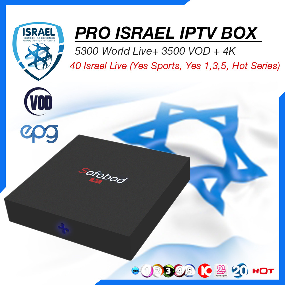 Sofobod S905W 8G+Free Israel Sweden Norway Turkish IPTV Subscription  5300Live+3500 VOD H 265 WiFi 4K Android TV Box