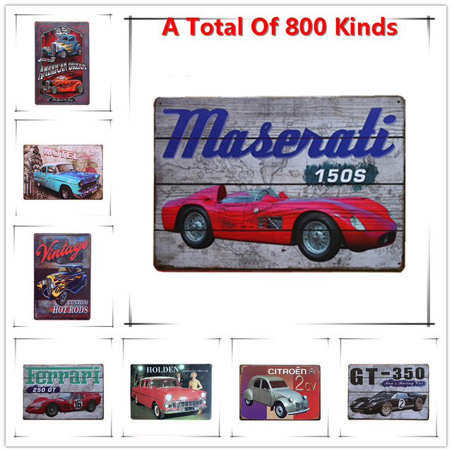 Metal Signs Home Decor welcome metal sign for home decor wall signs gifts metal signs Hot Red Sports Car Vintage Metal Signs Home Decor Vintage Tin Signs Pub Vintage Decorative Plates