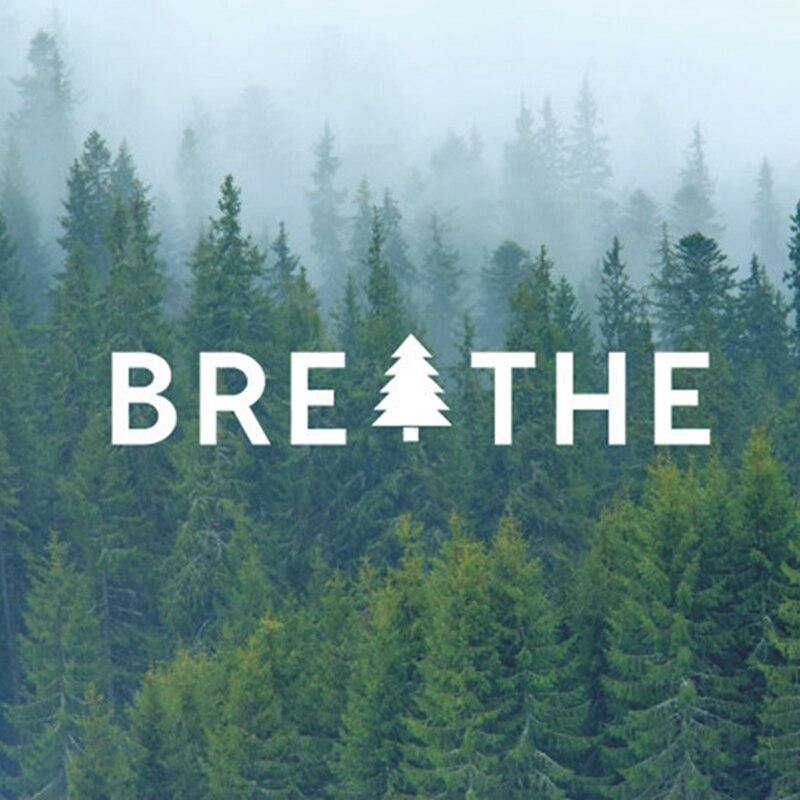 Free Shipping Breathe Tree Vinyl Decal Sticker Just