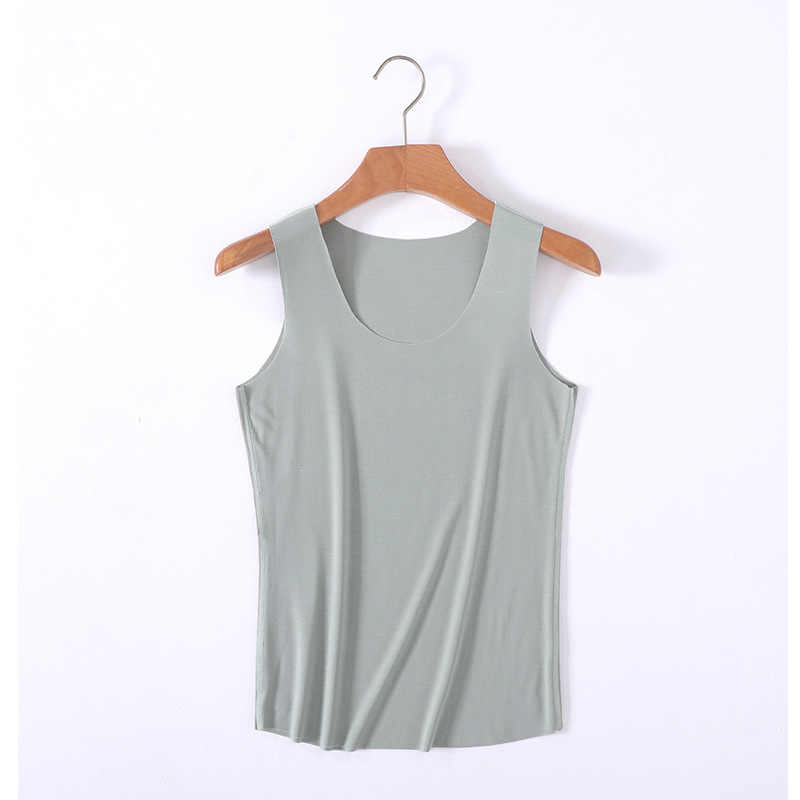 Women Basic Tank Top Slim Stretchy Viscose Tops Raw Summer Solid Colors
