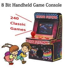 Mini Handheld Retro Game Console Portable Games Player Arcade 8 Bits 240 Classic Machine for Children Kids