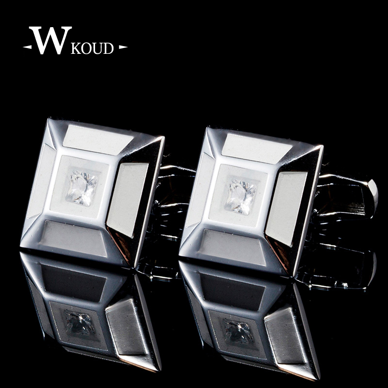 9 style high quality grade cufflinks for mens white crystal luxury French cuff links bottom wedding party father days gift