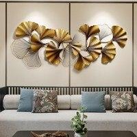 Новый китайский стены кованого железа гинкго Biloba ремесла творческое, настенное диван задний план украшение для стен украшения дома интимны