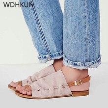 купить Suihyung Gladiator Sandals 2019 New Women Summer Beach Shoes Casual Flat Slides Rome Sandals Ladies Outside Slippers Flip Flops по цене 812.41 рублей