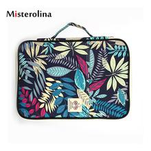 hot deal buy misterolina business women briefcase 13 inches unisex document bag soft handle zipper briefcases nylon men print bolsos mujer