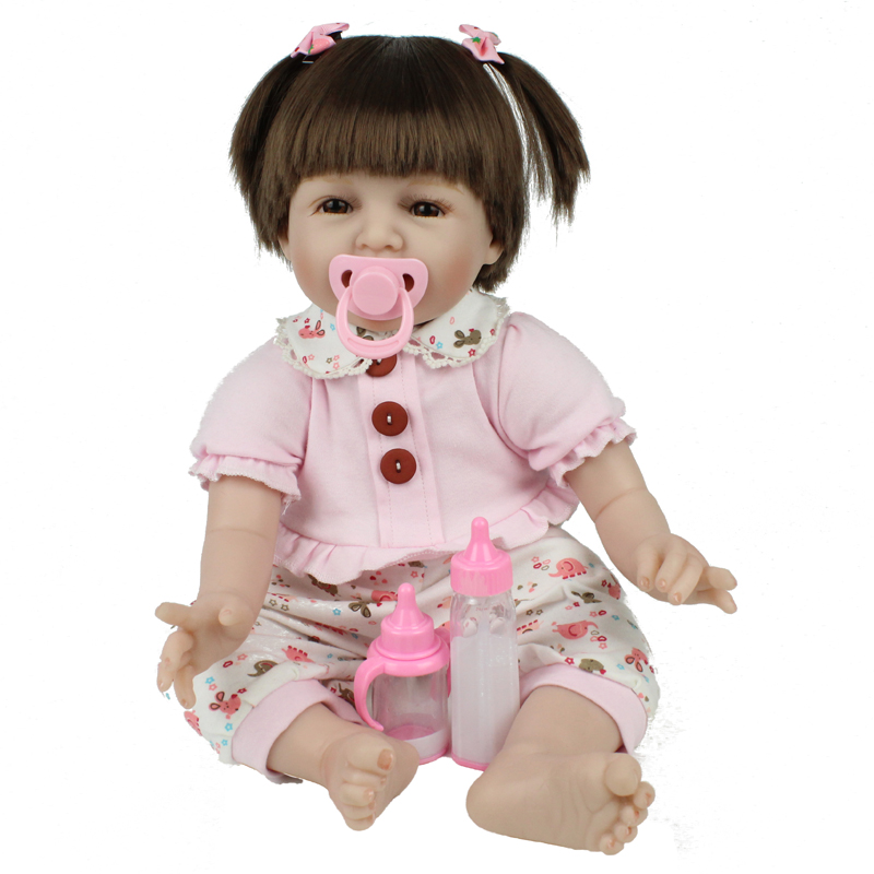 Handmade Baby Newborn 22 Inch 55cm Silicone Soft Reborn Baby Dolls Lovely Babies Girl Kids Birthday Xmas Gift Brinquedos Juguete hot sale 2016 npk 22 inch reborn baby doll lovely soft silicone newborn girl dolls as birthday christmas gifts free pacifier