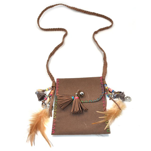 Feather Tassel Small Bohemian Bag
