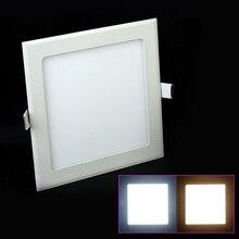 Встраиваемый светодиодный потолочный светильник 3-25 Вт теплый белый/натуральный белый/холодный белый квадратный ультра тонкий светодиодный панельный светильник AC85-265V светодиодный светильник