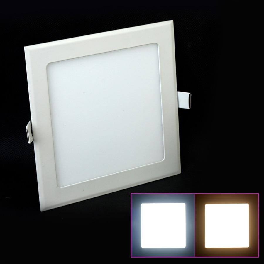 Recessed LED Ceiling Light 3-25W Warm White/Natural White/Cold White Square Ultra Thin Led Panel Light AC85-265V LED Down Light