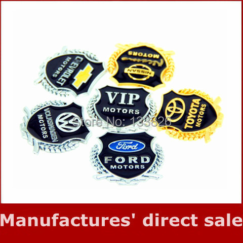 2014 New 3D Metal Car Hood Side window Sticker Car Emblem Logo Badge Graphics Decal Stickers Car Accessories for Decoration