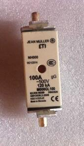 Free Shipping 1pcs/lot DIN43620 imported fuse tube NH000 500V fuse body 100A 120KA ETI