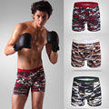 New 2016 Boxer Shorts Man Underwear Fashion Camouflage Cotton Patchwork Silky Large size XL/XXL/XXXL Male panties