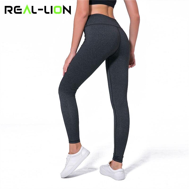 93298b7397c Reallion High Waist Yoga Leggings Women Fitness Sport Leggings Training Pants  High Quality Quick Dry Yoga Pants Sport Trousers-in Yoga Pants from Sports  ...