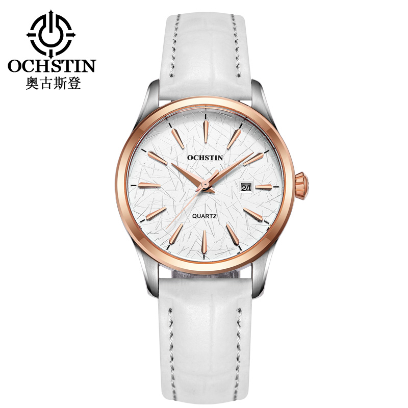 OCHSTIN Women Casual Watch Waterproof Luxury Brand Black Leather Quartz Watches Relogio feminino Clock Ladies Dress Wristwatch top ochstin brand luxury watches women 2017 new fashion quartz watch relogio feminino clock ladies dress reloj mujer