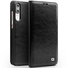 QIALINO Ultrathin Genuine Leather Flip Case for Huawei P20 Pro Business Style Pure Handmade Bag Phone Cover for P20 5.8/6.1 inch