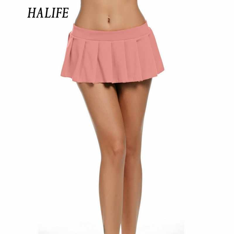 dfc7fa4a59 ... Women Micro Skirt Sexy Low Waist Short Mini Skirt Female Sleepwear  Nightwear Cosplay Student Uniform Faldas ...