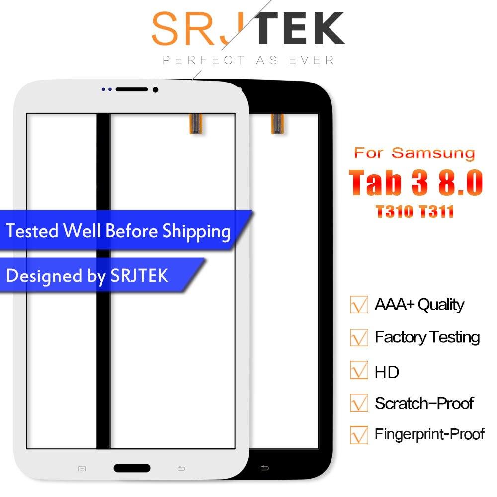 3 Srjtek 8.0 Tela Sensível Ao Toque Para Samsung Galaxy Tab 8.0 T310 T311 SM-T310 SM-T311 Digitador Da Tela de Toque Sensor de Peças Tablet PC