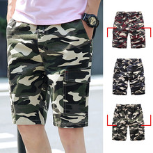 8a1daf7345 100% Cotton Shorts Men Summer Camouflage Sports Shorts Quality Beach Male  Short Pants Breathable Fashion