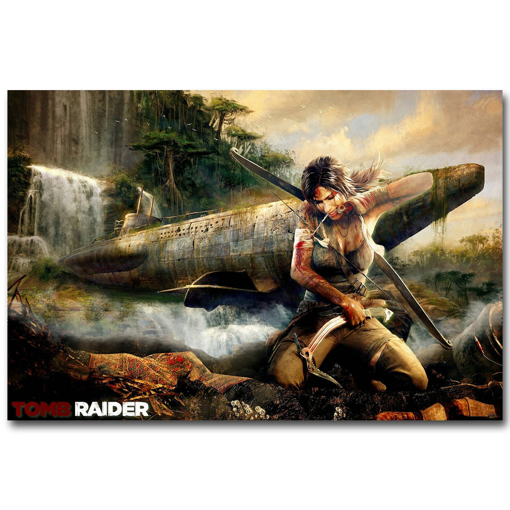 Rise Of The Tomb Raider Art Silk Fabric: Popular Raider Art-Buy Cheap Raider Art Lots From China
