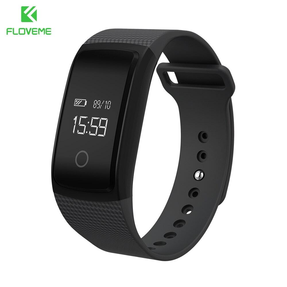 imágenes para Floveme banda inteligente rastreador de fitness inteligente pulsera pulsómetro inteligente oled pulsera smartband smart watch pulsera de fitness