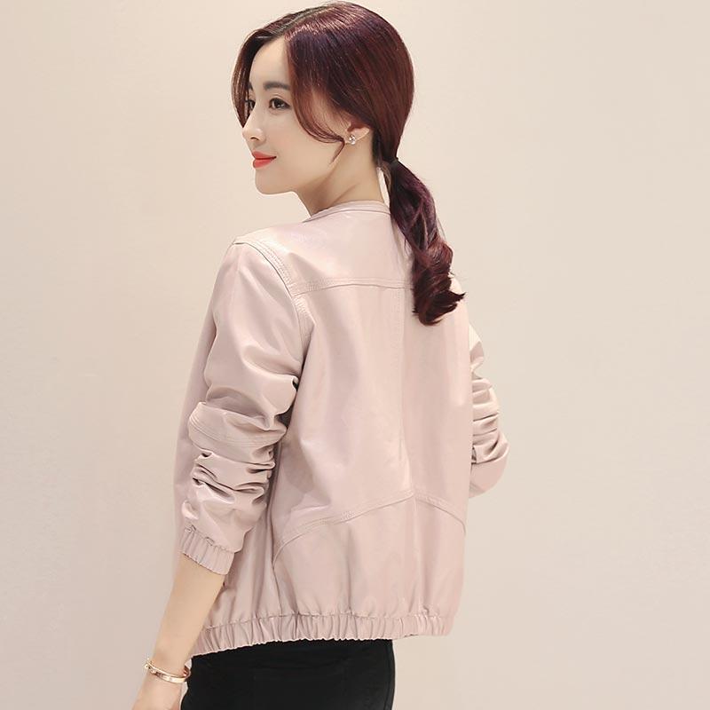 Manteau 2017 Automne Qualité O Gh83 Haute Femmes Poches Beige Rose Mode Nouveau Survêtement cou Casual Zipper Printemps Femelle Court Lâche wwfn8