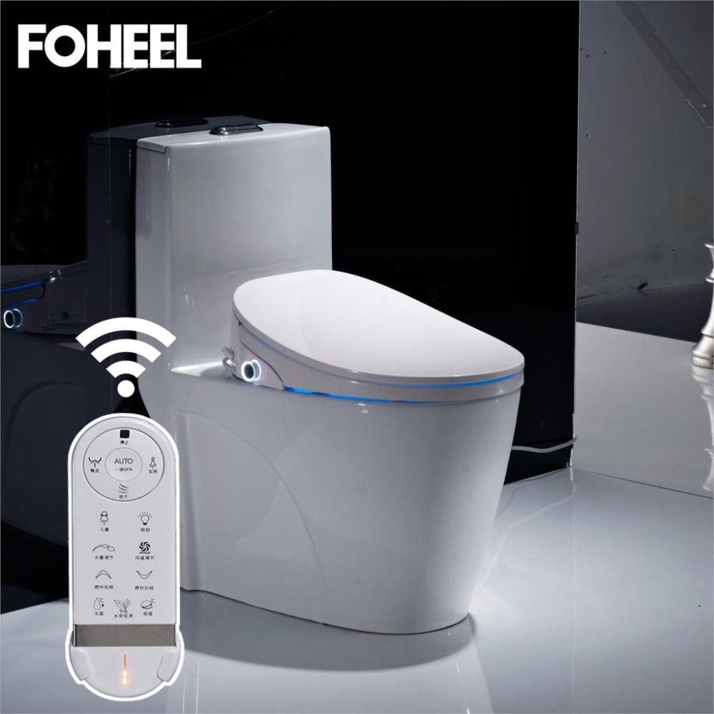 все цены на LED Square Stainless Steel Nozzle Intelligent Toilet Seat Smart Toilet Cover Automatic Clean Electric Remote Toilet K5 онлайн