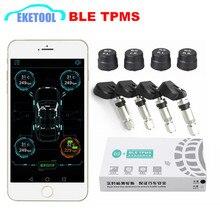 BLE TPMS אלחוטי 4 חיישני רכב Tire ניטור מערכת TPMS אזעקת אזהרה על ידי Bluetooth 4.0 עבור APP IOS/אנדרואיד