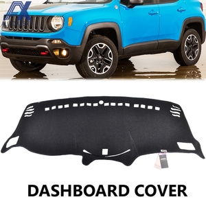 AX Xukey Fit For Jeep Renegade Dashboard Cover 2015 2016 2017 2018 Dashmat Dash Mat Sun Shade Dash Board Cover Carpet(China)