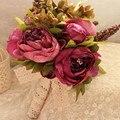 2017 Vintage Western Garden Искусственный Свадебный Букет Свадебный Букет Невесты Бутик де Mariage Buque де Noiva