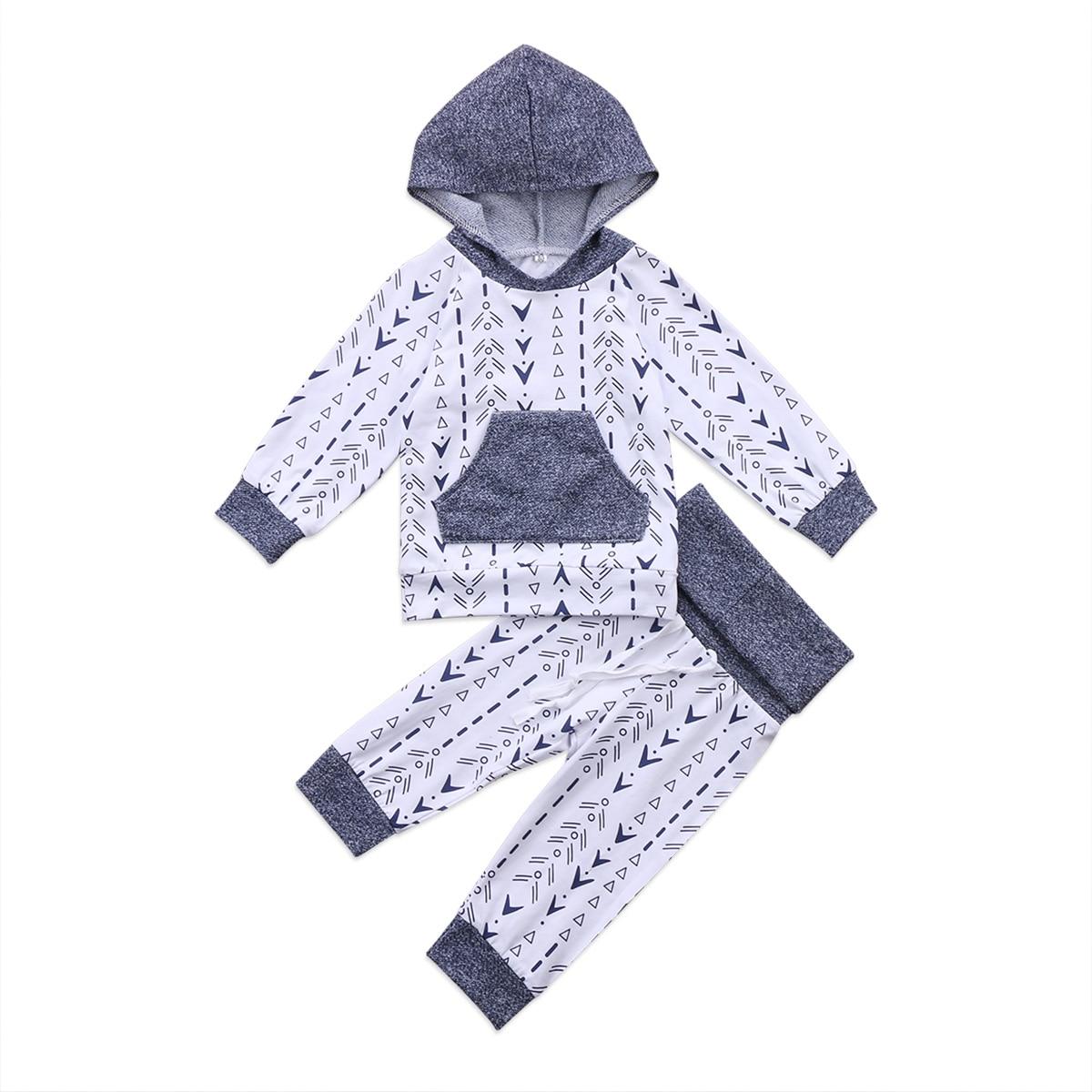 2 предмета цветочный для маленьких мальчиков с капюшоном Костюмы комплект для новорожденных мальчиков толстовка геометрических Комплекты ...