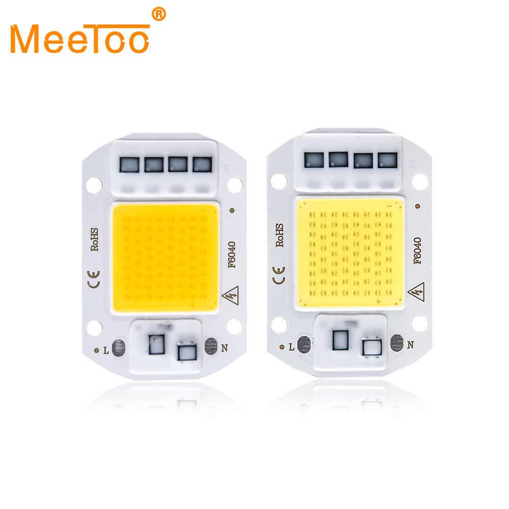 Dioda LED wysokiej mocy matryca do projektorach COB ledowy chip lampa 50W 30W 20W 110V 220V DIY LED żarówka światło halogenowe diody reflektor odkryty