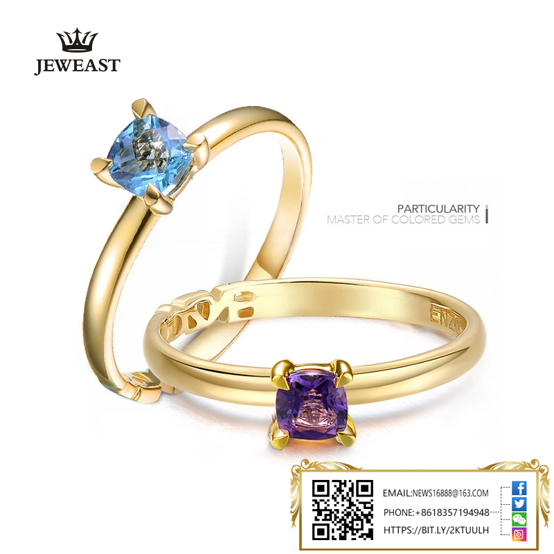 9K Gold Pure Gold Ring Real 9K Gold Solid Gold Rings Good Beautiful Upscale Trendy Classic Party Fine Jewelry Hot Sell New 2018