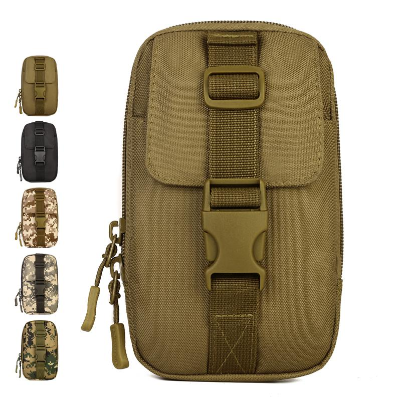 Outdoor Camping Climbing Bag Tactical Military Molle Hip Waist Belt Wallet Pouch Purse Phone Case Hunting Fitness Cycling HAC505 outlife new style professional military tactical multifunction shovel outdoor camping survival folding spade tool equipment