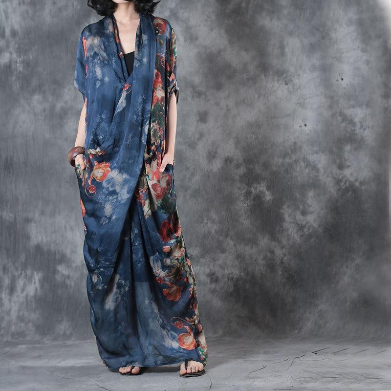 Luxury Women Front cross stylish Summer Linen dress Vintage elegant print loose party holiday dress
