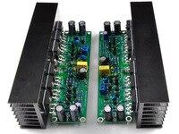 LJM DIY amplifier board Assembled L15 MOSFET amplifier board 2 channel AMP +2pcs heatsink ( IRFP240 IRFP9240)