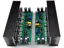 Ljm diyアンプボード組み立てl15 mosfetアンプボード2チャンネルamp + 2ピースヒートシンク(irfp240 irfp9240)