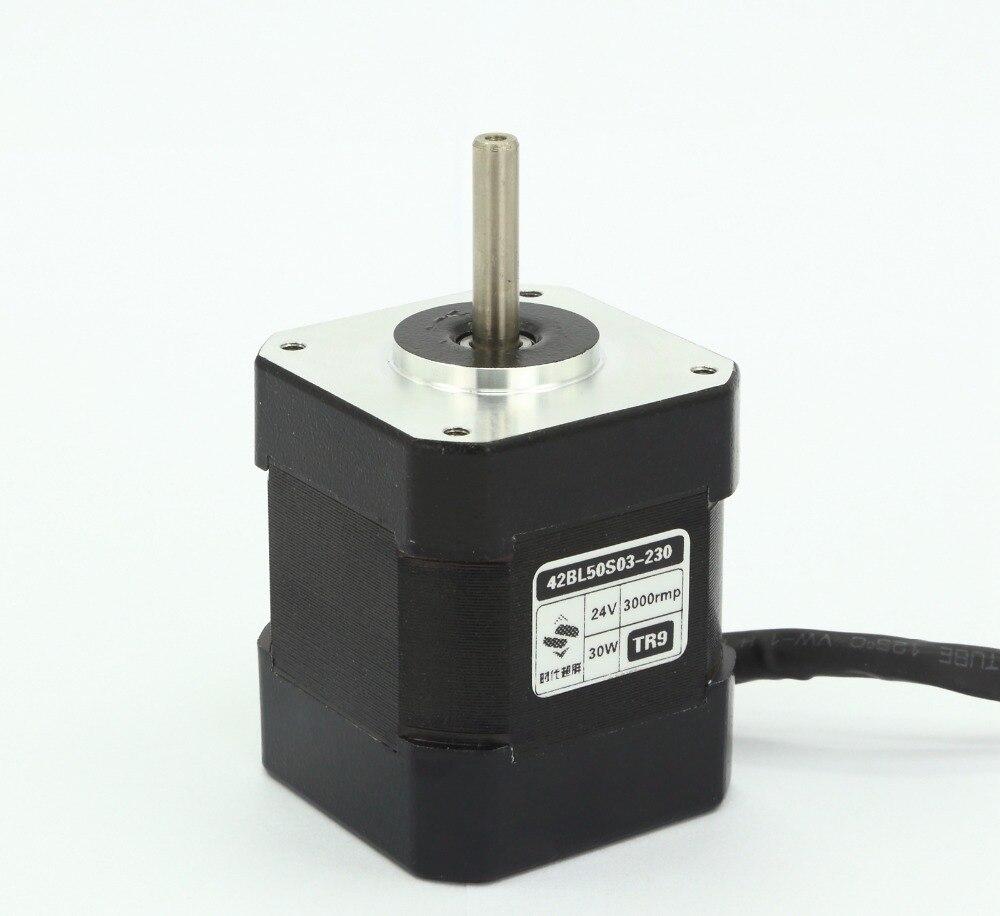 42 brushless DC high voltage motor30W 24V 3000 rpm.Body length 50mm High speed brushless motor austria ruwido i 1k 100k 220k 470k axis length 50mm
