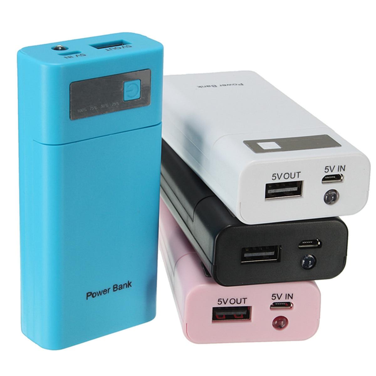 Seguridad Universal 5 V 1A USB DIY Banco de la Energía 2X18650 de La Batería car