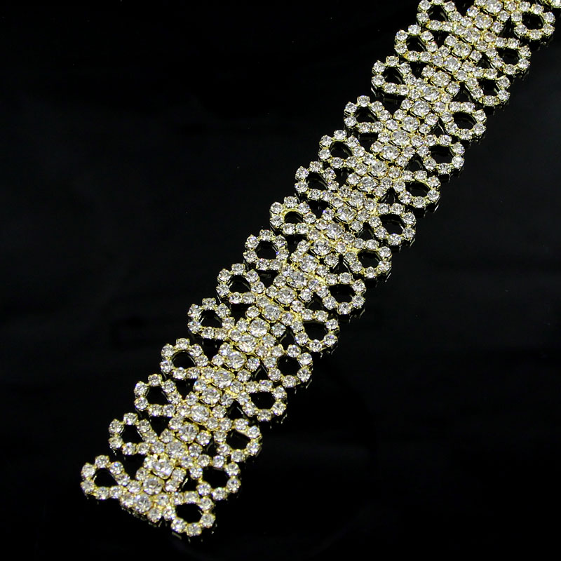 100Yards Stunning Beaded Crystal Rhinestone Diamante Trim Ribbon Bridal Wedding Chain