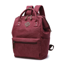 Canvas Backpack Women Backpack For Girls Women bag vintage Mini backpack teenage girl school bag mochila feminina Mummy bag