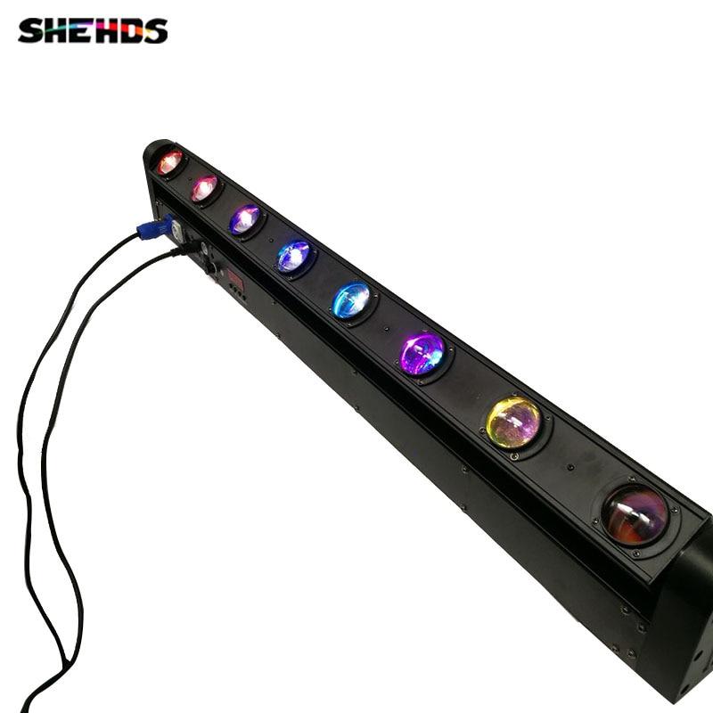 LED 8x12W Bar Beam Moving Head Light RGBW Perfect for DJ, Party, nightclub,Disco Light Christmas Sound Active DMX Disco цена