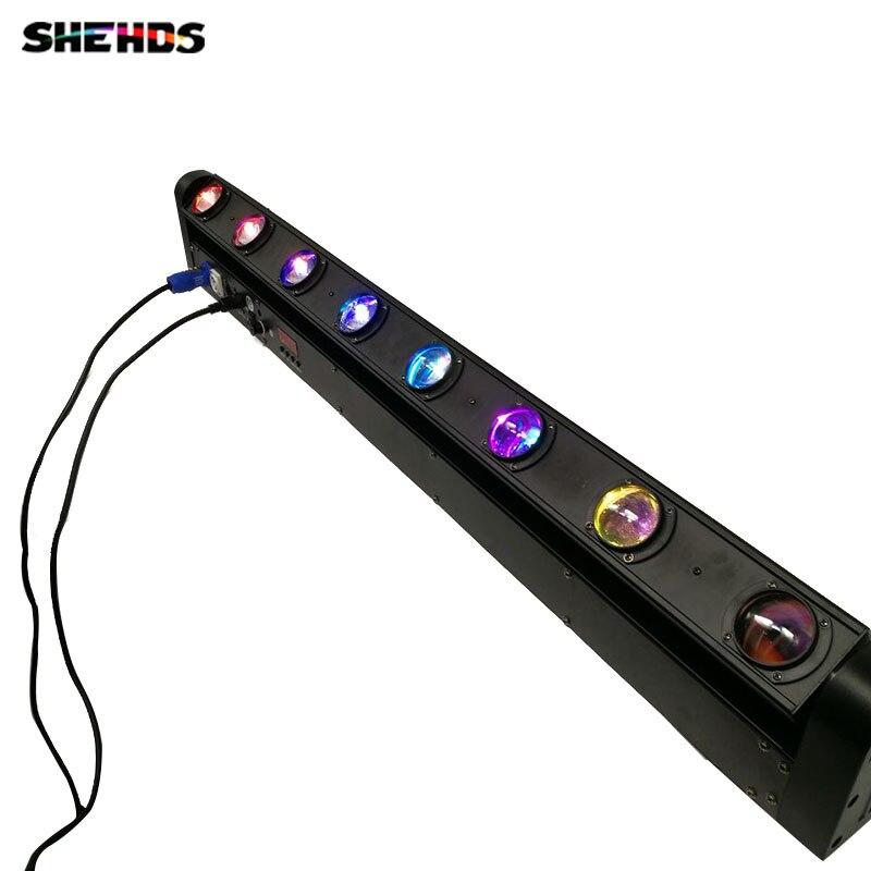 LED 8x12W Bar Beam Moving Head Light RGBW Perfect for DJ, Party, nightclub,Disco Light Christmas Sound Active DMX Disco