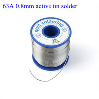 Free shipping New 63A 0.8mm Tin Solder 500g Melt Rosin Core Soldering Wire Reel flux wire weld soldering tin high quality W0010