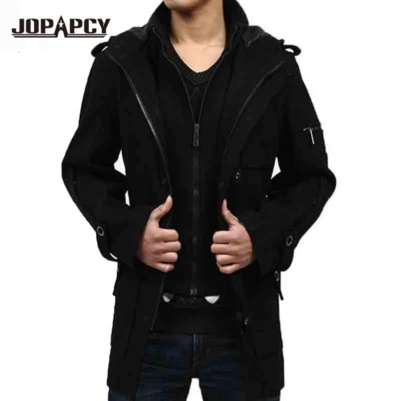 Popular Hooded Pea Coat for Men-Buy Cheap Hooded Pea Coat ...