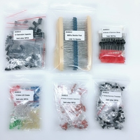 electrolytic capacitor Electronic Component Kit Total 1390 Pcs LED Diodes 30 Values Resistors 12 Kinds Electrolytic Capacitor Pack TO-92 Transistor Box (3)