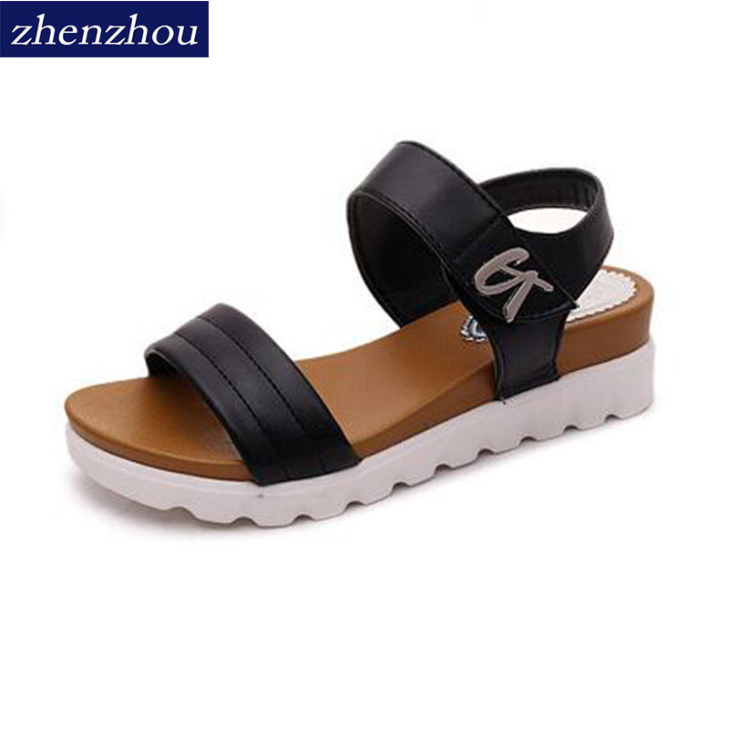ZHENZHOU 2018 Women's shoes summer Sandal women on the new summer new low heels and the fish-mouth women's shoe sandals. in the summer of 2016 the new wedge heels with fish in square mouth denim fashion sexy female cool shoes nightclubs