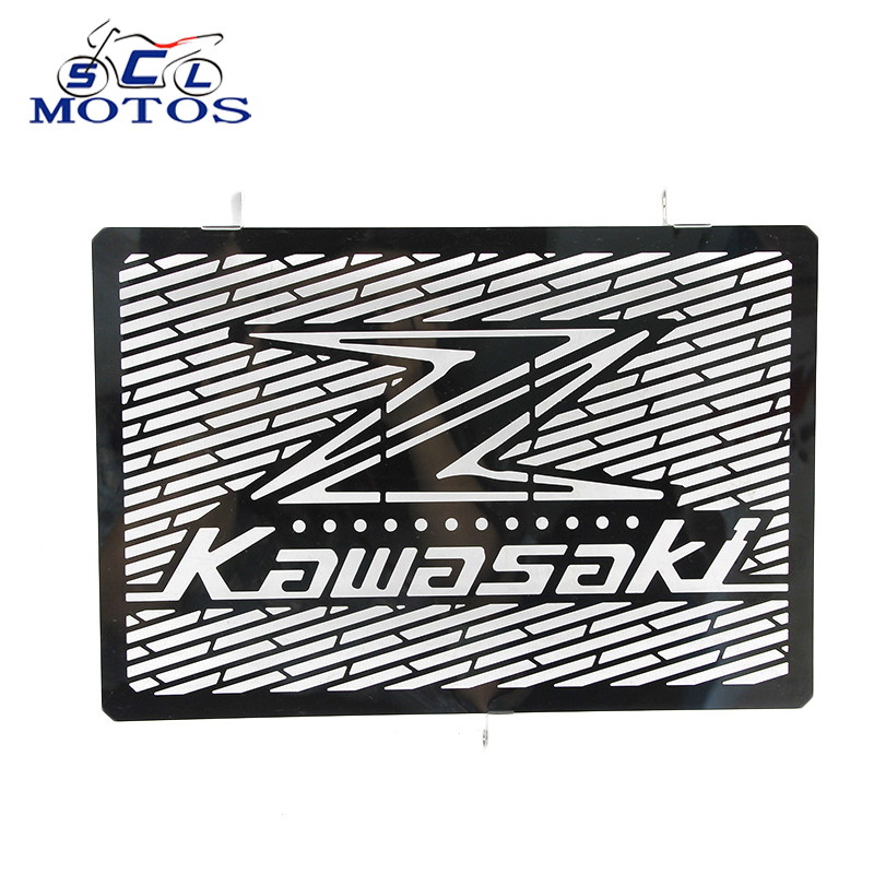 Sclmotos- Stainless Steel Motorcycle Radiator Grille Guard Cover Protector For Kawasaki Z750 Z800 ZR800 Z1000 Z1000SX for kawasaki z750 z 750 2007 2015 2011 2012 2013 2014 stainless steel motorcycle black radiator grille guard protection cover