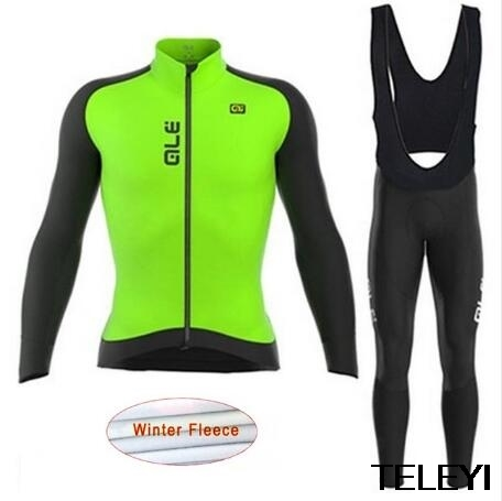 ALE 2017 Winter thermal fleece clothes cycling jersey bib pants MTB bicycle wear set ropa maillot ciclismo 2017 winter ropa ciclismo pro team ale women cycling jersey bib pants set thermal fleece bicycle clothing mtb bike clothes j0703