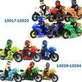 Горячая ninjagoeinglys мотоцикл рыцари building block дьявол Nya Ллойд GARMADON ниндзя Кай Зейн miinfigures совместимость legoes