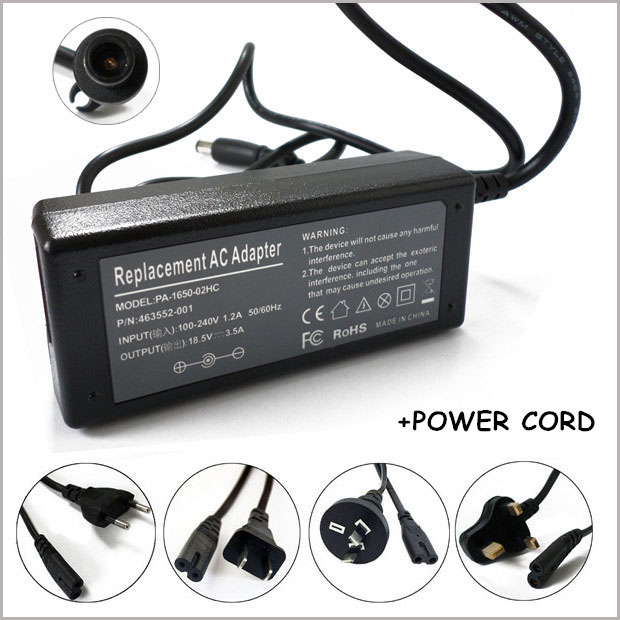 185V 35A 65W Smart Pin AC Adapter Charger For Laptop HP PPP009H